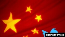 China -- Chinese flag with twitter, collage RFE/RL, 18Nov2010