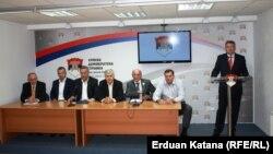 Stranački lideri nakon sastanka u Banjaluci, 13. jul 2012.