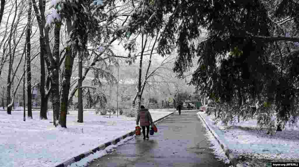 В Симферополь вернулась зима