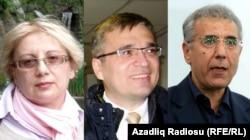 Leyla Yunus, İlqar Məmmədov və İntiqam Əliyev (arxiv fotosu)