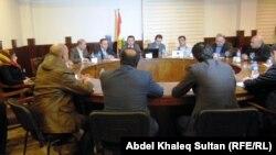 جلسة منظمات المجتمع المدني يدعون فيها الى الاسراع في تشكيل الحكومة ، دهوك
