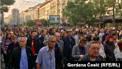Protesta në Beograd