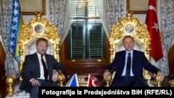 Član Predsjedništva BiH Bakir Izetbegović i turski predsjednik Redžep Tajib Erdogan u Istanbulu, april 2016.