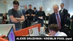 """Владимир Путин в офисе """"Яндекса"""", 21 сентября 2017"""