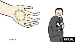 Karikatura - Yanukovych. Müəllif: Євгенія Олійник