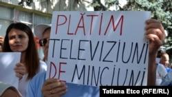 Un protest pentru libertatea presei la Chișinău