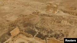 Pamje nga droni të qytetit të Palmirës, 28 mars 2016