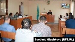 Судебное заседание по делу гражданского активиста Махамбета Абжана. Астана, 16 октября 2017 года.
