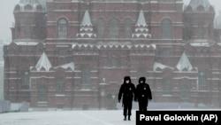 Moskva, Qırmızı Meydan, 31 mart, 2020-ci il