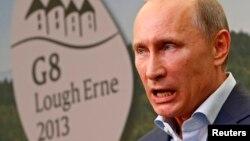 """Президент России на предыдущем саммите """"Большой восьмерки"""" в Великобритании. Лох-Эрн, 18 июня 2013 года."""