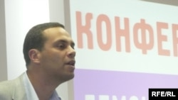 Milov addressing a Solidarity planning conference in November.