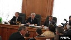 Під час засідання Погоджувальної ради керівників депутатських фракцій Верховної Ради України, 7 вересня 2009 р.