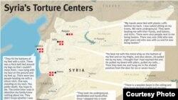 Центрите на тортура во Сирија, обележани од Human Rights Watch