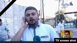 Իրաք – Իրաքի հեռուստատեսությունը լուսաբանում է «Ազատության» լրագրողի սպանությունը, Բաղդադ, 22-ը մարտի, 2014թ․