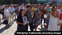 Акция памяти по погибшим в Иловайске в центре Киева