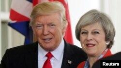 Дональд Трамп і Тереза Мей уже зустрічалися у Вашингтоні 27 січня 2017 року