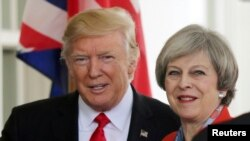 Donald Trump i Theresa May