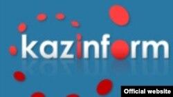 """""""Қазинформ"""" логосы. Сурет ақпарат агенттігінің вебсайтынан алынды. 15 маусым 2011 жыл."""