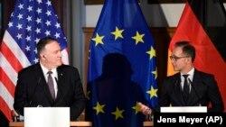 Sekretari amerikan i Shtetit, Mike Pompeo dhe ministri i Jashtëm gjerman, Heiko Maas. Foto nga arkivi.