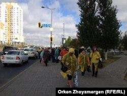 Акция протеста «ипотечников». Астана, 1 октября 2013 года.