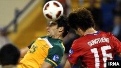 صحنه ای از بازی کره جنوبی و استرالیا