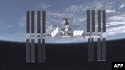 A video grab provided by NASA showing the International Space Station (ISS) in March 2009.