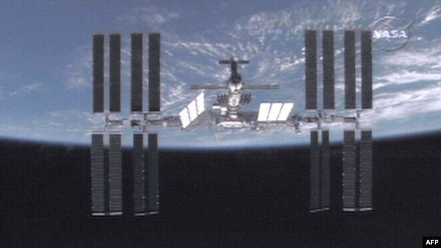A still image provided by NASA of the International Space Station (ISS) in 2009