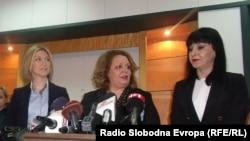 Прес конференција на специјалниот јавен обвинител Катица Јанева во Скопје