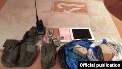 Вещи, найденные при обыске у подозреваемой в харьковском взрыве