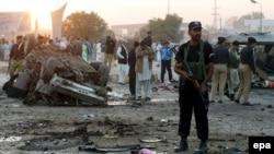 Pakistan, ulag bombasynyň bolan ýeri. Arhiw suraty.