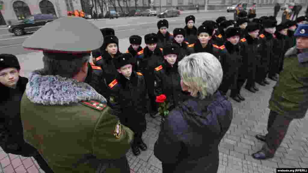 Ужо традыцыйныя госьці на Дні народзінаў Максіма Багдановіча - сувораўцы