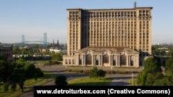 ԱՄՆ - Տեսարան Միչիգան նահանգի խոշորագույն Դեթրոյթ քաղաքից, արխիվ