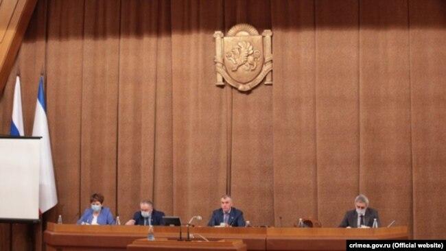 Заседание подконтрольного России крымского парламента, 27 мая 2020 года