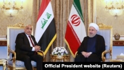 Iraqi Prime Minister Adel Abdul-Mahdi meeting with Iranian President Hassan Rouhani in July 2019.