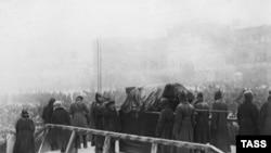 Похороны Владимира Ленина на Красной площади, 27 января 1924 года.