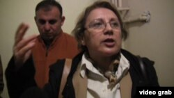 Azerbaijani rights advocate Leyla Yunus (screen grab)