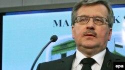 Виконувач обов'язків президента Польщі Броніслав Коморовський