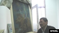 Қазақ суретшісі Балтас Оспан. Алматы, 17 мамыр 2010 жыл.