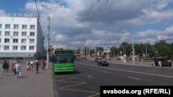 На вуліцы Леніна ў Віцебску