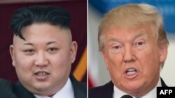 North Korean leader Kim Jong-Un (left) and U.S. President Donald Trump (composite file photo)