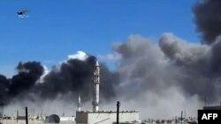 Сириядагы Хомс шаарына Орусиянын алгачкы аба чабуулун жасады.
