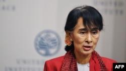Аун Сан Су Чжи АКШдагы Тынчтык институтунда, 18-сентябрь, 2012