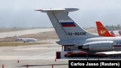 Самолет с российскими военными, прилетевший в Каракас 24 марта 2019 года.