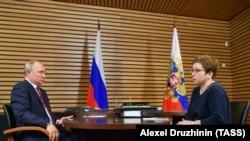 Нюта Федермессер на встрече с Владимиром Путиным