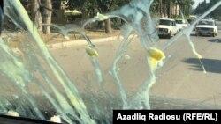 Cəlilabad rayonunda müsavatçıların olduğu avtomobilə yumurta atılıb, 5 oktyabr 2019