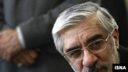 """Opposition leader Mir Hossein Musavi urged his supporters not to be provoked by the detentions, saying they were a """"sign of more horrendous events to come."""""""