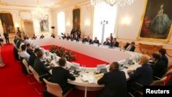 Лідери країн-членів Європейського союзу під час саміту у Братиславі. 16 вересня 2016 року