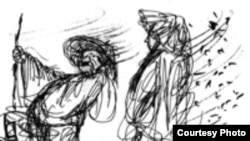 Рисунок из мультфильма классика российского анимационного кино Юрия Норштейна