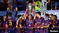 Իսպանիայի «Բարսելոնա» ակումբը՝ Եվրոպայի Չեմպիոնների լիգայի հաղթող, Բեռլինի Օլիմպիական մարզադաշտ, 6-ը հունիսի, 2015թ․