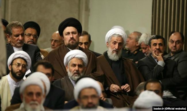 کاظم صدیقی در جمع برخی مقامات حکومتی در دیدار با رهبر جمهوری اسلامی